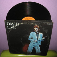 Vinyl Record Album David Bowie - David Live Double LP 1974 Glam Rock Classics