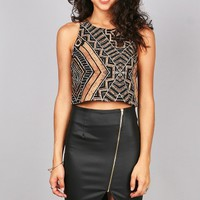 Labyrinth Crop Top
