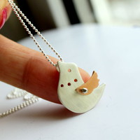 Come With Me Bird Necklace Riveted Rose Gold Wing   Luulla