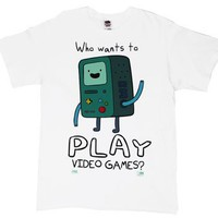 Who Wants To Play Video Games - Adventure Time T-shirt