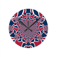 Hakuna Matata Gifts trendy stylish red and blue.jp Wallclock