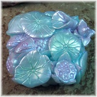 Lily Pond Glycerin Soap Lotus and Koi Hand Cast Exquisite Details