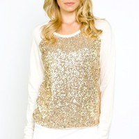 Starry Night Sequin Sweater- $68