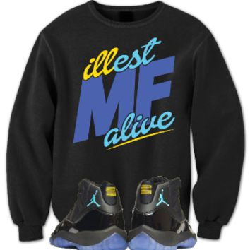 "Jordan Crewneck to match the Jordan Retro 11 ""Gamma Blue"" Shoes"