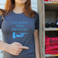I'm with the Muggle - Charcoal Grey Small