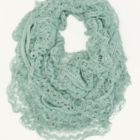 Crochet Ruffle Infinity Scarf | Cold Weather | rue21