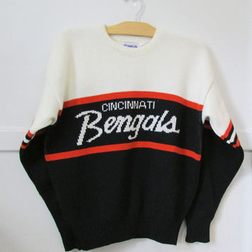 Cliff engle bengals sweater vintage 80s from for Vintage bengals t shirts