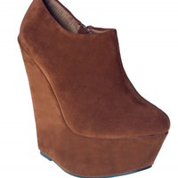 Rust Suede Ankle Boot Wedges | Boots | Shoes | Desire