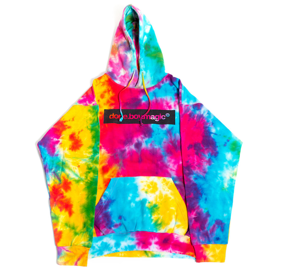 dope boy logo tie dye hoodie from thedopeboymagicshop. Black Bedroom Furniture Sets. Home Design Ideas