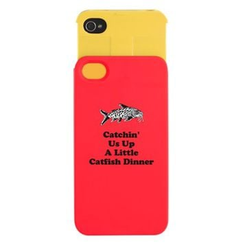 Catchin Us Up A Little Catfish Dinner iPhone Wallet Case