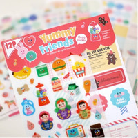 Yummy Friends Deco Sticker Set