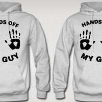 HANDS OFF MY GUY GIRL LOVE COUPLE HOODIES
