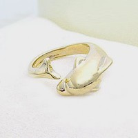 Gold Dolphin Ring Adjustable [also comes in Silver]