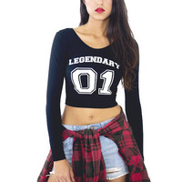 Legendary Long Sleeve Crop | Jawbreaking
