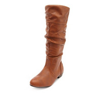 FAUX-FUR LINED SLOUCH BOOT
