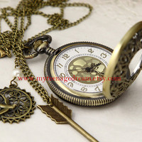 Pocket Watch, locket watch, locket Necklace, Victorian pattern Golden dial Pocket Watch locket Necklace