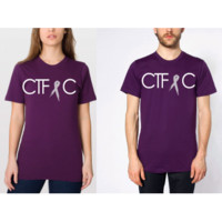 DFTBA Records :: PRE-ORDER: CTFxC Brain Cancer Ribbon Shirt - Eggplant