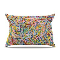 KESS InHouse More Sprinkles Fleece Pillow Case