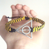 Harry Potter Jewelry Hufflepuff Bracelet Deathly Hallows Hogwarts Bracelet