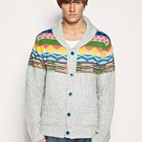 Humor Harzen Shawl Collar Cardigan at ASOS