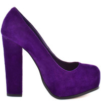 Sarrina - Purple Suede