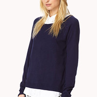 Shirt Inset Raglan Sweater