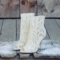 Meadowlark Lace Booties