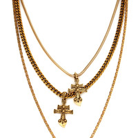 New York Dolls Layered Cross Necklace from Vanessa Mooney Jewelry
