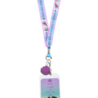 Disney The Little Mermaid Keep Calm Kiss Girl Lanyard