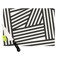 "Louise Machado ""Black Stripes"" Cutting Board 