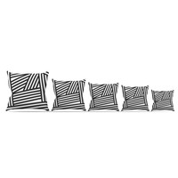 "Louise Machado ""Black Stripes"" Throw Pillow 