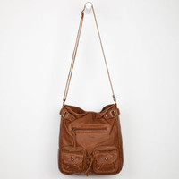 T-Shirt & Jeans 2 Pocket Front Zip Hobo Bag Cognac One Size For Women 22105940901