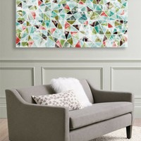 Abstract Triangles - Ready to hang canvas art from Urban Road | Made By Urban Road | £75.00 | BOUF