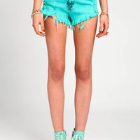 MINT ACID CUT-OFF SHORTS