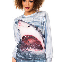 The Shark Crewneck Sweatshirt in Grey