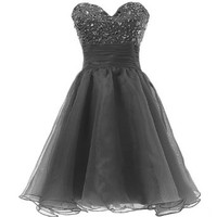 Dresstells Cute Sweetheart Beading Short Prom Cocktail Party Dress