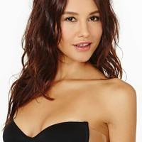 Barely There Backless Bra - Black
