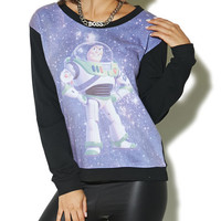 Galaxy Buzz Lightyear Sweatshirt | Wet Seal