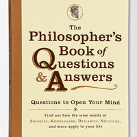 The Philosopher's Book Of Questions And Answers By D.E. Wittkower   - Urban Outfitters