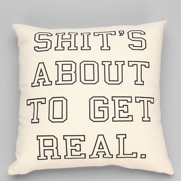 Ruxton by alexandra ferguson About 2 Get Real PIllow - Urban Outfitters