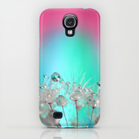 Rise Above it All - rainbow dandelion macro with droplets iPhone & iPod Case by micklyn