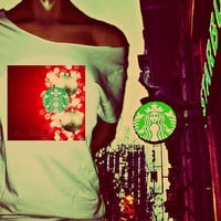Starbucks Style Christmas Coffee Preferences Off The Shoulder Tshirt