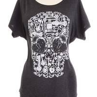 Skeleton Key Dolman Sleeve Top