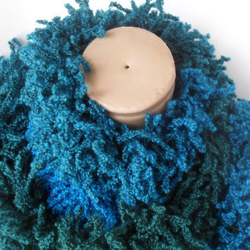 winter fashion, christmas gifts, Ruffle Scarf, Sashay Scarf, Crocheted Scarf, Twist, DEEP green navy blue SCARF,Shades Scarves