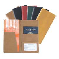 Royce Milano Feather-Lite Manmade Leather Passport Ticket Holder