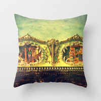 Auf dem Jahrmarkt (1) Throw Pillow by Angela Bruno