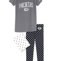 Green Bay Packers Boyfriend Tee & Legging Gift Set - PINK - Victoria's Secret
