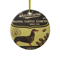 Dachshund Brand – Organic Coffee Company Christmas Tree Ornament
