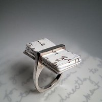 i (thou) Valentine Ring by OneOriginJewelry