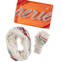 AERIE FAIR ISLE COLDWEATHER GIFT SET